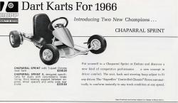 The New 1966 Rupp (Dart) Kart Line Up